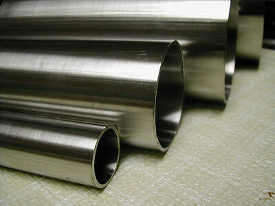 "2"" OD, 0.065"" Wall, (SMLS) 316/316L Stainless, Round Tubing 12"" Length"