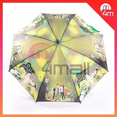 Kids Boys Ben 10 Alien Force Umbrella Parasol Sunshade Rainproof Raincoat Gift
