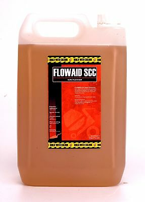 Concrete Super Plasticiser: 5Litre water reducingFlowaid SCC superplasticizer