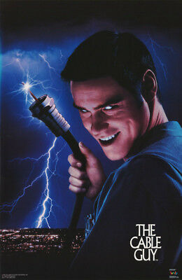 Poster: Movie Repro:  The Cable Guy - Jim Carrey 1996 - Free Ship'n #3414 Rw17 U