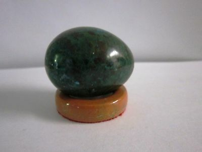 Crystal Healing Chrysocolla Carved As Egg