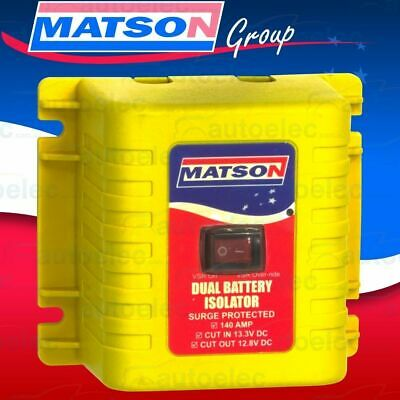 Matson 140 12 12V Volt Amp Dual Battery Isolator Vsr With Over Ride Switch New