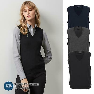 Ladies Knitted Vest Pullover Office Corporate V-Neck Size S-4XL 4 Colours LV3504