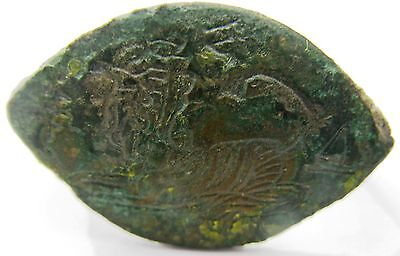 Byzantine Bronze Ring Lion Facing To The Left Archaeology • CAD $151.00