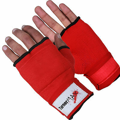 TurnerMAX Hand Wrap Inner Boxing Gloves Muay Thai MMA Red
