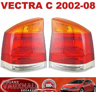 Vauxhall Vectra C 02-08 New Pair Rear Back Amber Lights Passenger & Drivers Side