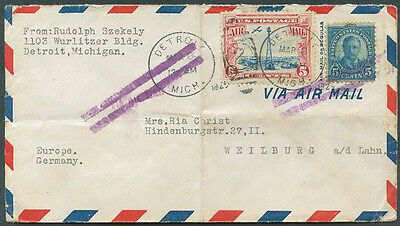 USA TO GERMANY Old Air Mail Cover VF