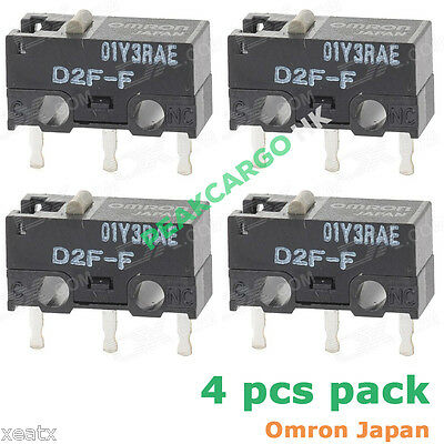 4 PCS OMRON D2F-F Micro Switches Microswitch for RAZER Logitech APPLE MS Mouse