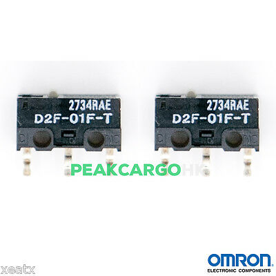 2 PCS OMRON D2F-01F-T Ultra Subminiature Switches RAZER Logitech APPLE MS Mouse