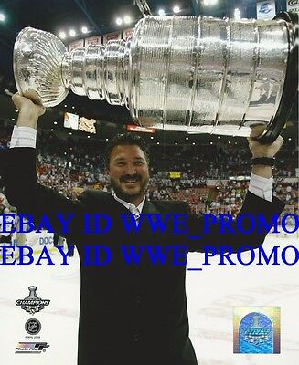 Mario Lemieux PITTSBURGH PENGUINS Stanley Cup Champions NHL 8X10 Hockey Photo
