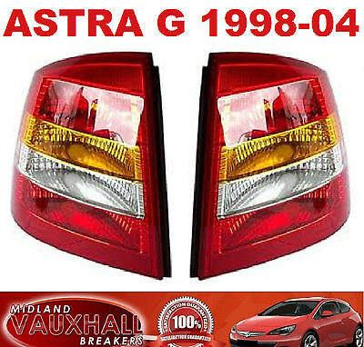 Vauxhall Astra G New Pair Of Replacement Rear Back Lights Drivers And Passenger