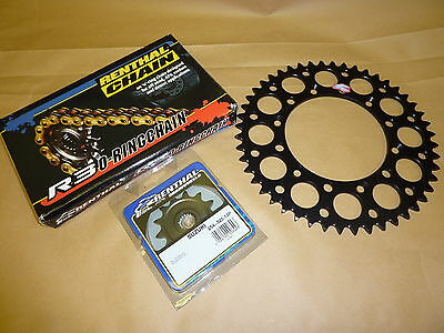 Renthal O Ring Chain And Black Sprocket Kit KX KXF 125/250/450/500 Motocross
