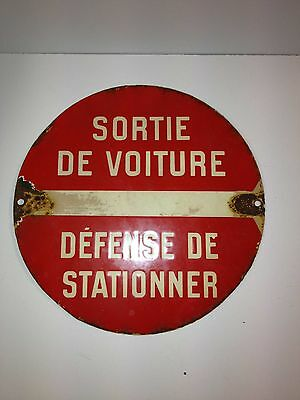 Genuine Antique French 'Sortie' Wall Sign . Great Collectable