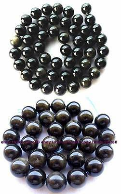 Natural Golden Obsidian Round Beads 15'' 6mm 8mm 10mm 12mm 14mm 16mm