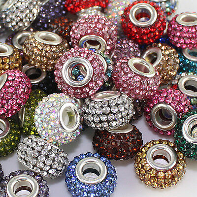 WHOLESALE FASHION DIFFERENT COLORS AUSTRIAN CRYSTAL SILVER PLATED FINDINGS CHAR