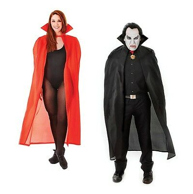 Dracula Vampire Red / Black Cape 56'' Adult Costume Halloween Fancy Dress