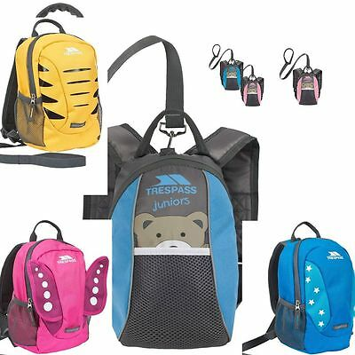 Trespass Baby,kids Rucksack Backpack Mini Me Tiddler With Detachable Safety Rein
