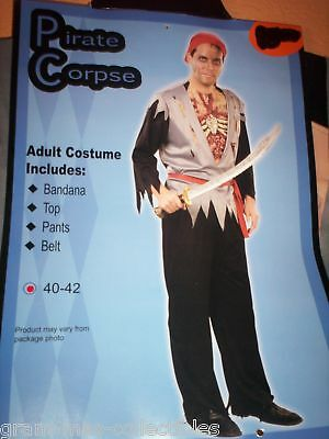 Pirate Corpse Costume Adult Size 40-42 New