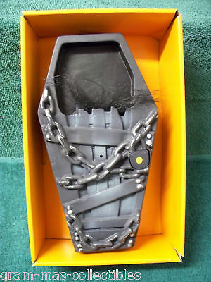 ANIMATED DOORBELL COFFIN  CRAZED GHOUL NEW