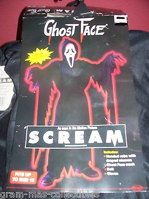 Costume- Ghost Face (Movie-Scream) W/mask Fits To 12