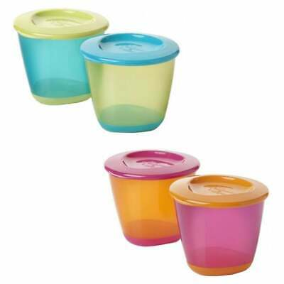 Tommee Tippee   New Explora    Pop Up Weaning Pots  4M+  Bpa Free