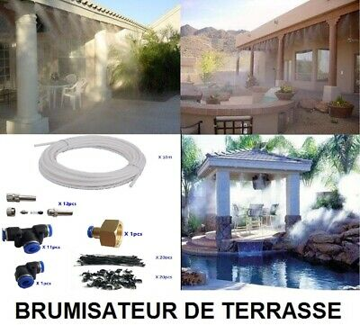 exterieur syst me brumisateur buse pour humidification serre terrasse pelouse 262407550396. Black Bedroom Furniture Sets. Home Design Ideas