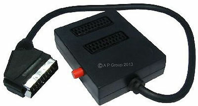2 WAY Switched Scart Input Selector Switch Splitter Box 498
