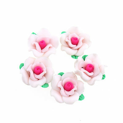 FREE SHIP 30 pcs New Flowers Polymer Clay Charms Spacers 110859 hot