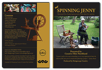Our Spinning Jenny DVD - Learn to Spin Tutorial - Pipy & Wendy wheels