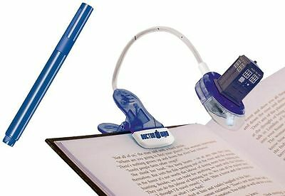 *NEW* Dr Doctor Who TARDIS Clip On Booklight & Magic UV Ultra-Violet Pen