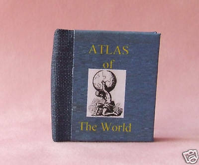 Dollshouse Miniature Book - Atlas