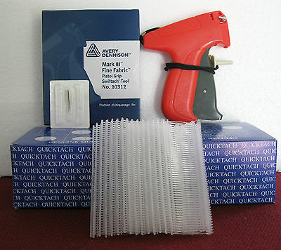 "10312 Avery Dennison Fine Fabric Price Tagging Gun + 5000 1"" Clear Barbs"