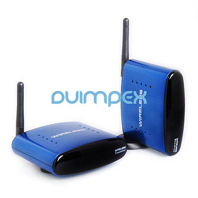 A07 Wireless AV Transmitter System 200m 5,8G Funk AV 3RCA HD TV mit IR Extender