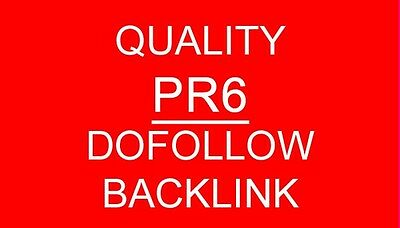 Manually build  20xPR6  PERMANENT, Dofollow Links, Paul and Angela style,SEO.