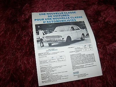 Publicité magazine / Original Advertising FORD Taunus 15M 1967 //