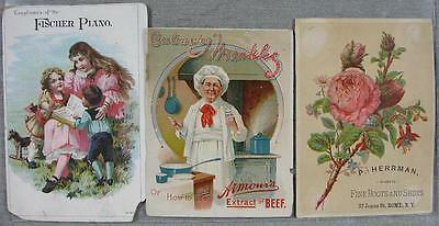 Lot of 31 1870's-1900's Real Nice Trade Cards & Other Old Paper Stuff