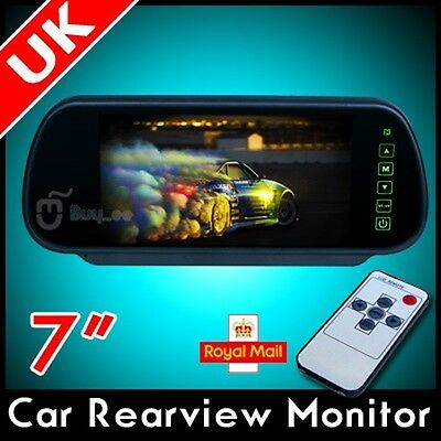 "7"" Lcd Tft Color Mirror Monitor For Car Bus Rearview Reverse Camera"