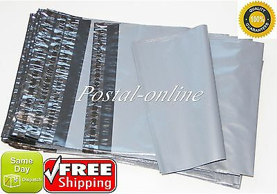 50 100 Mixed Grey Plastic Postal Mailing Mail Postage Bags Poly Quality Strong