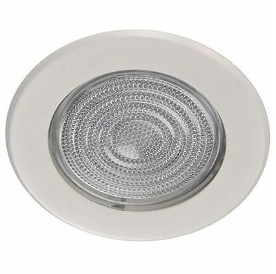 """5"""" INCH GLASS SHOWER TRIM WHITE FOR RECESSED CAN LIGHT"""