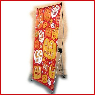 "X Banner Stand W32""xH68"",  FREE Printing Trade Show Display X220"