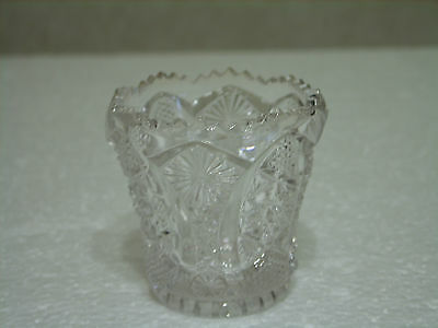 IMPERIAL GLASS CLEAR GLASS HOBSTAR TOOTHPICK HOLDER