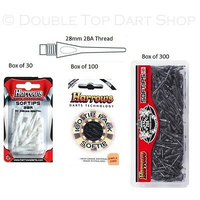 Harrows Soft Tip Dart Points - Dimple Replacement Tips - Tough - Size 2BA