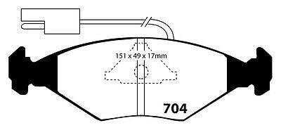 Ebc Front Ultimax Brake Pads Dp704 To Fit Fiat Fiorino 1.1 88-93