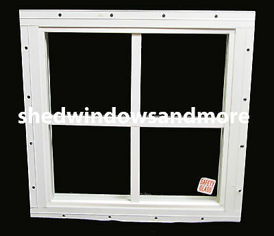 """Storage Shed Windows 12"""" x 12"""" square White, playhouse Tree House Chicken Coops"""