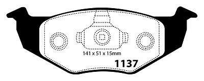 Ebc Front Ultimax Brake Pads Dp1137 To Fit Vw Polo 1.4 00-01