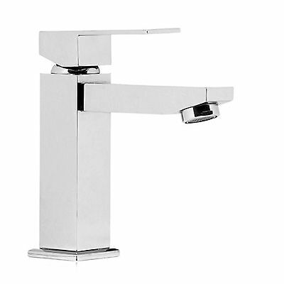 Messina Mini Square Bathroom Flick Basin Sink Vanity Mixer Tap Faucet