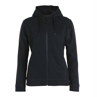 Ladies Full Zip Fleecy Hoodie Cotton Rich Jacket 4 Colours Size 8-24 New 3HJ1