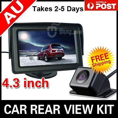 "CAR REAR VIEW KIT 4.3"" TFT LCD MONITOR +HD CAR REVERSING CAMERA 170° WIDE Angle"
