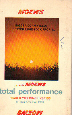 1974 Moews Hybrid Seed Corn Pocket Guide Book