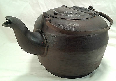 Antique Cast Iron Leibrandt Dowell Kettle Teapot with Handle  Made Philadel PA